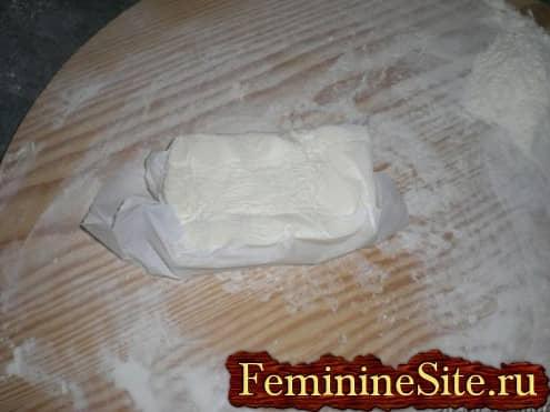 Слоеное тесто рецепт с фото - готовое масло