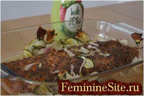 мясной рулет с овощами - рецепт с фото №6