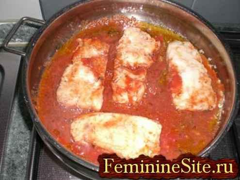 приготовление рыбы трески с помидорами