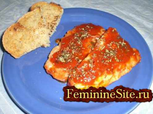 рыба треска с помидорами - рецепт с фото