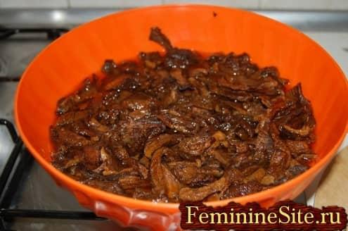 Рецепт блинчиков с грибами - замочите грибы