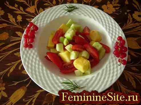 салат с ананасами и помидорами - фото №5