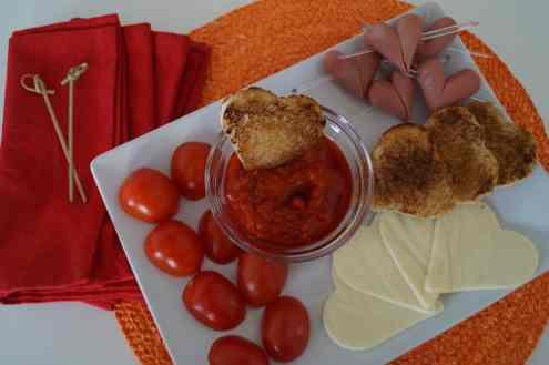 День Святого Валентина - быстрые романтические закуски